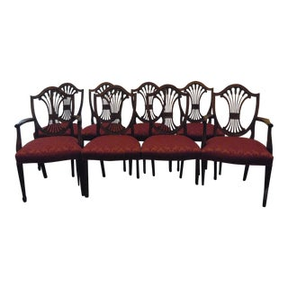 Stickley Shield Back Dining Chairs - Set of 8