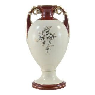 Burgundy & Gold Gilt Urn