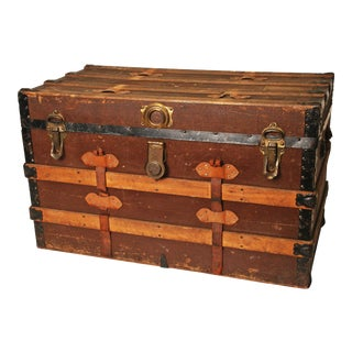 American Railways Victorian Steamer Trunk