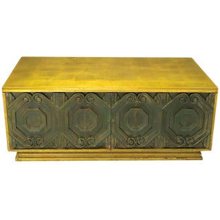 Phyllis Morris Gilt and Bronze Finish Cabinet Coffee Table