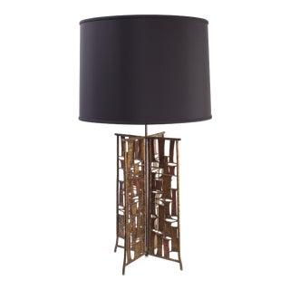 Brutalist Studio Metal Patchwork Table Lamp