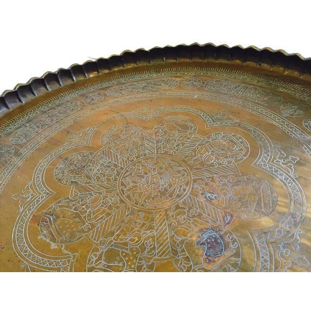 Vintage Etched Turkish Tea Tray - Image 3 of 7