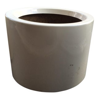 White Fiberglass Architectural Planter