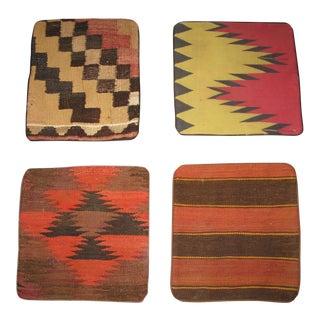 Vintage Afgan Kilim Pillow Cases - Set of 4