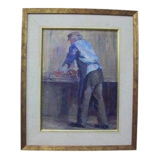 "Original ""Butcher"" Oil Painting"