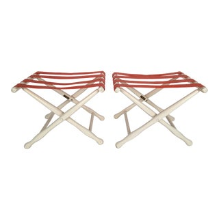 Palm Beach Luggage Stands - A Pair