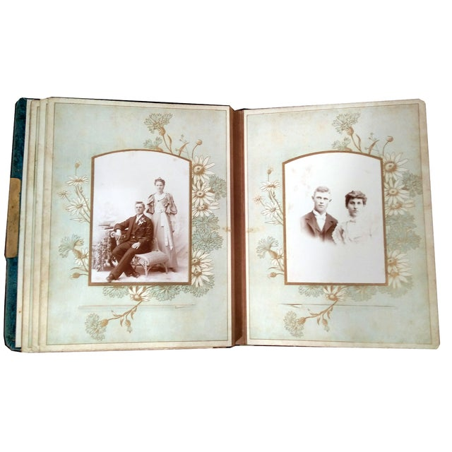 Antique Nouveau Photo Albums - Set of 5 - Image 9 of 10