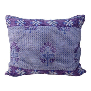 Purple & Light Lavender & White Floral Printed Pillow