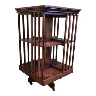 Vintage Traditional Revolving Bookcase