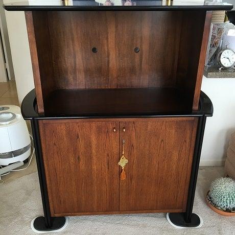 Century Two Toned Wood Motorized Cabinet Chairish