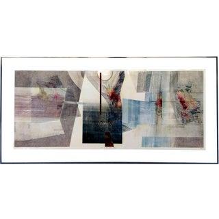Robert Devoe Abstract Modern Monoprint Etching