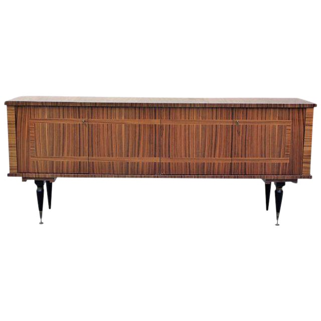 1940s Vintage French Art Deco Macassar Ebony Sideboard or Buffet/Bar - Image 1 of 10