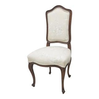 Louis XV French Walnut Side/Vanity Chair
