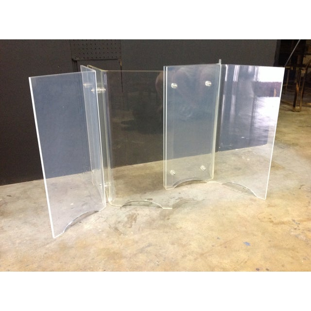 Image of Vintage Lucite Table Bases - A Pair