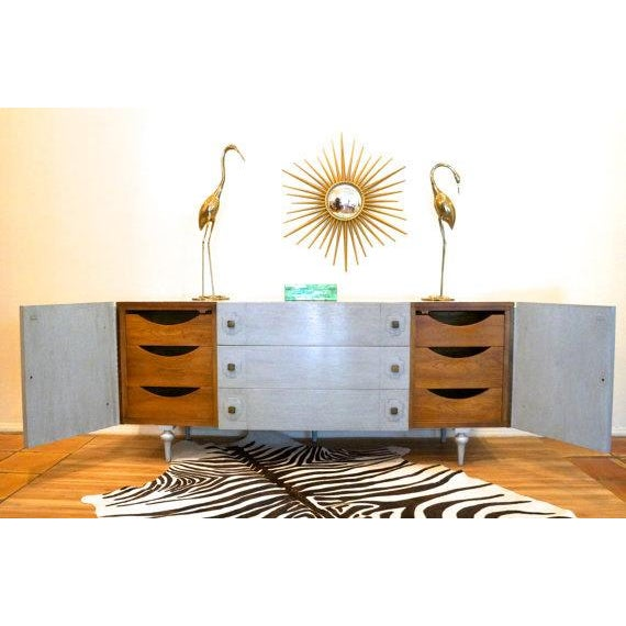 American of Martinsville Gray Credenza Cabinet - Image 3 of 5