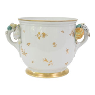 Sevres French Porcelain Seashell Cache Pot
