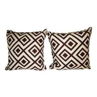 David Hicks Bark & Ivory Fiorentina Pillows- A Pair