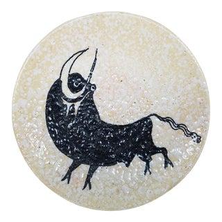 Vintage Spanish Bull Pottery Art