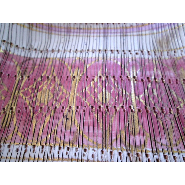 Mid-Century Italian Pink & Gold-Gilt Ashtray - Image 3 of 5