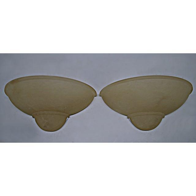 Art Deco Style Alabaster Sconces - A Pair - Image 3 of 7