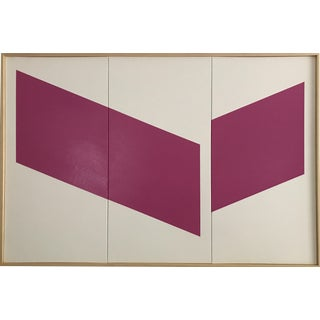 """Jason Trotter Original Acrylic Painting """"Magenta Disjointed Tripytych JET0473"""""""