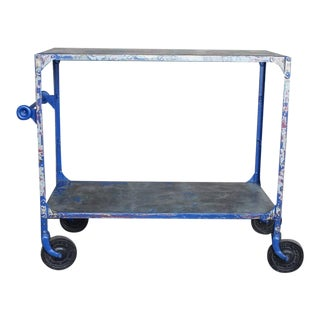 Vintage Industrial Bar Cart