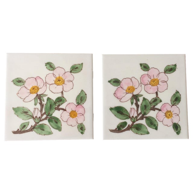 Franciscan Desert Rose Trivets or Tiles - a Pair - Image 1 of 7