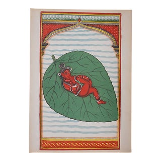 Vintage Indian Vishnu Lithograph