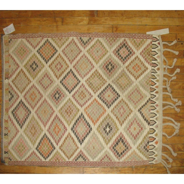 Vintage Turkish Jajim Rug - 4'2'' X 3'1'' - Image 2 of 3