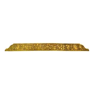 Vintage Etched & Engraved Brass Ruler