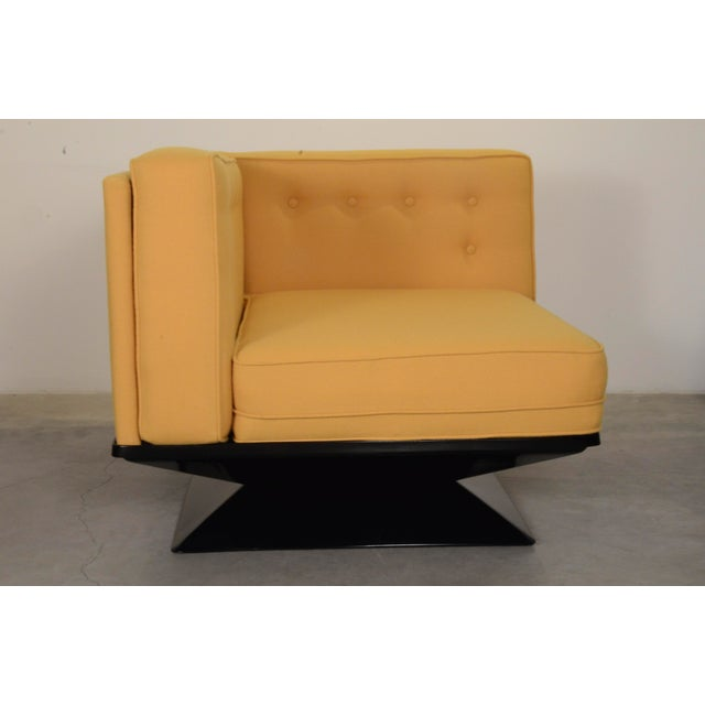Upholstered in a New Yellow Knoll Wool MIM Roma (Ico Parisi) Sectional Sofa by Luigi Pellegrin - Image 6 of 10