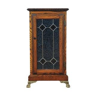Slot Machine, Original Oak Stand Cabinet