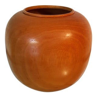 Mid-Century Modern Hand Turned Tropical Wood Bowl