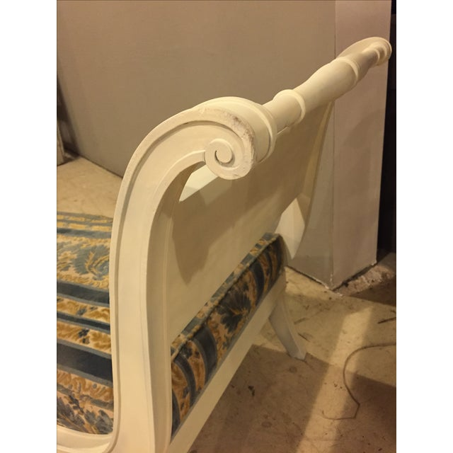 Antique 1920s White Directoire Style Chaise Lounge - Image 8 of 11