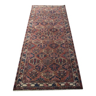 "Antique Persian Kurdish Wide Runner - 3'8"" X 9'7"""