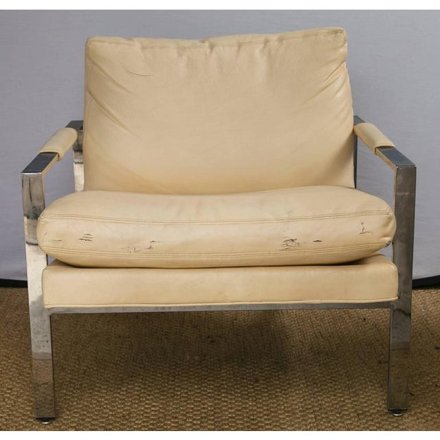 Milo Baughman for Thayer Coggin Club Chairs, Pair - Image 4 of 10