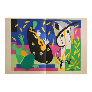 "1952 ""Tristesse Du Roi"" Original Lithograph by Henri Matisse"