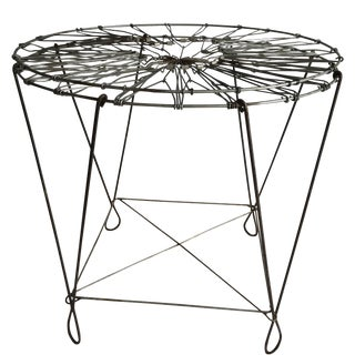 Antique French Laundry Wire Basket