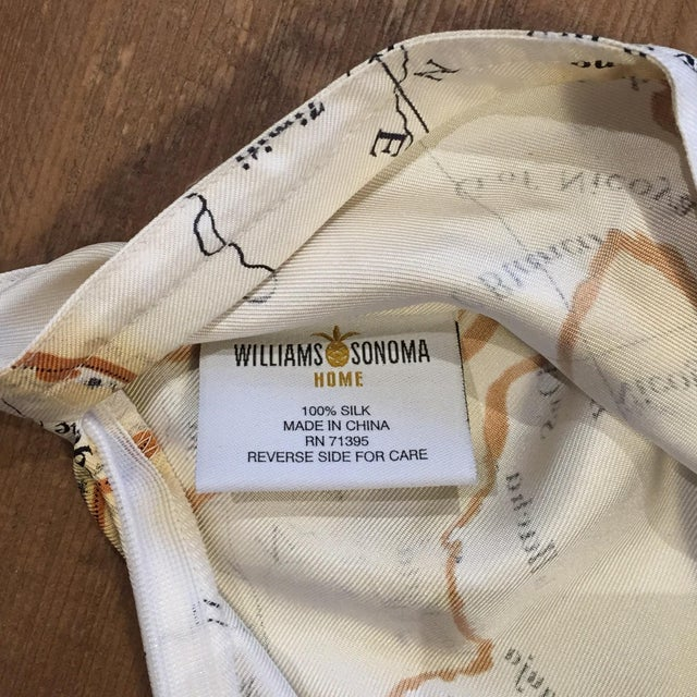 Williams-Sonoma Silk Map Pillow Cover - Image 5 of 5