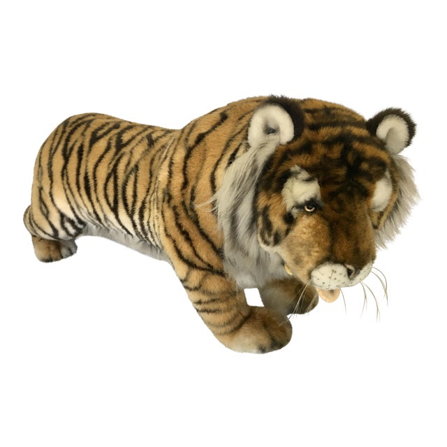 Vintage Nordstrom's Advertising Display Life Sized Plush Tiger - Image 1 of 11