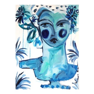 """Blue Lady Bust"" Painting"