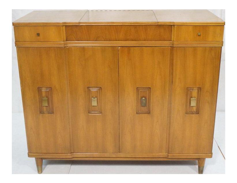 John Widdicomb Dresser With Pop Up Vanity
