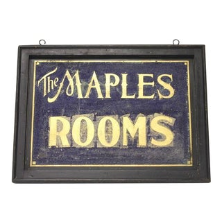 1900's Double Sided Tin Sign With Gold Leaf Lettering