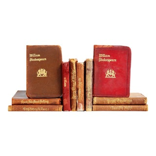Tiny Leather Shakespeare Book Collection - Set of 10