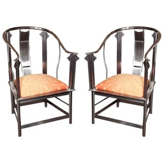 Steel Throne Chairs by Maison Jansen - A Pair
