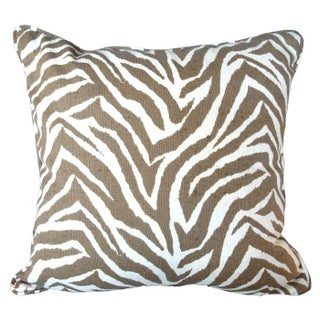 Outdoor Zebra Print Pillow