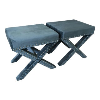 Studded X Benches - A Pair