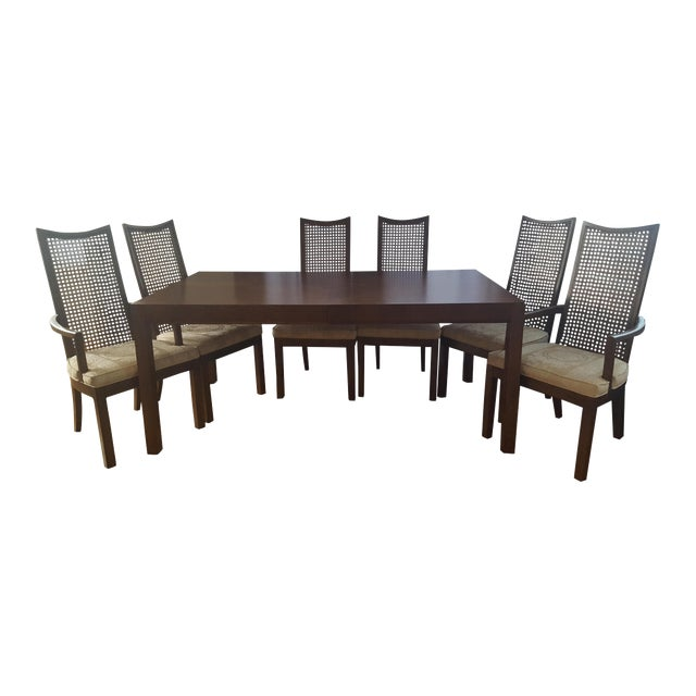 Refinished American of Martinsville Mid-Century Modern Walnut Dining Set - Image 1 of 3