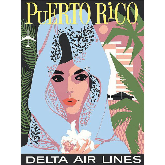 Vintage Reproduction Puerto Rico Travel Poster - Image 2 of 2