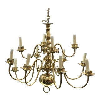 Vintage Brass Williamsburg Chandelier